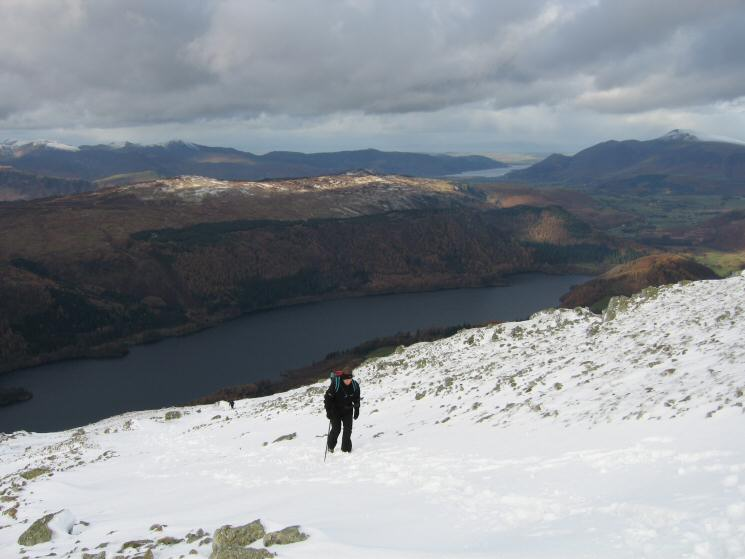 Climbing above Thirlmere