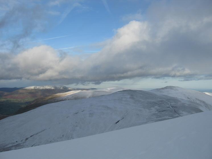 White Side, Raise, the Dodds and Blencathra to the north