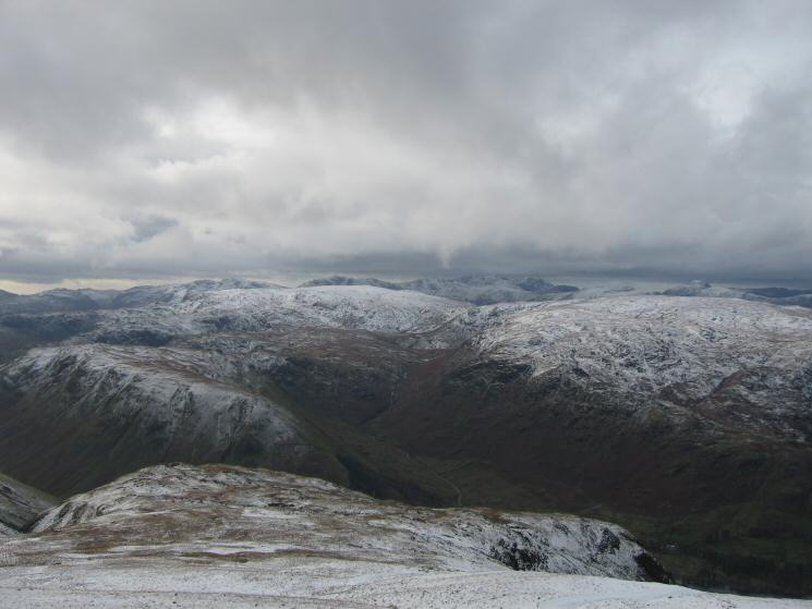 The Wythburn valley and the central fells