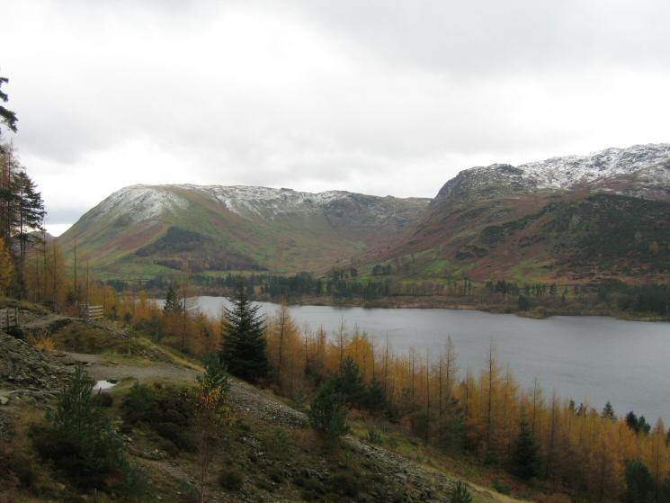 Looking across Thirlmere to Steel Fell and the Wythburn valley