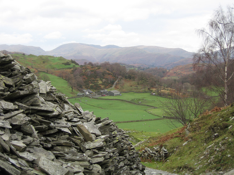 The Fairfield fells from Tilberthwaite