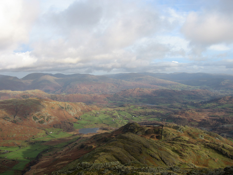 The view north east from Wetherlam Edge
