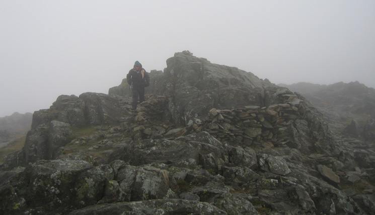 Glaramara's summit, no view today
