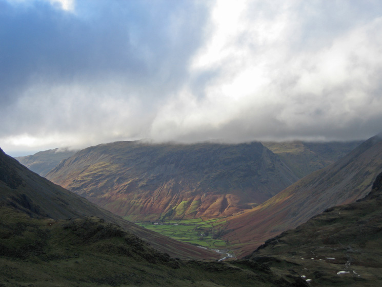 Wasdale Head and Yewbarrow from Seathwaite Fell