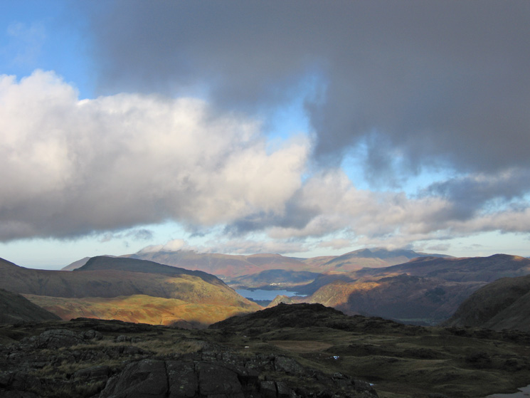 The view north from Seathwaite Fell's summit