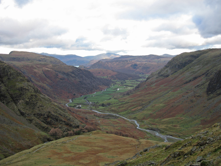 Borrowdale from the descent off Seathwaite Fell