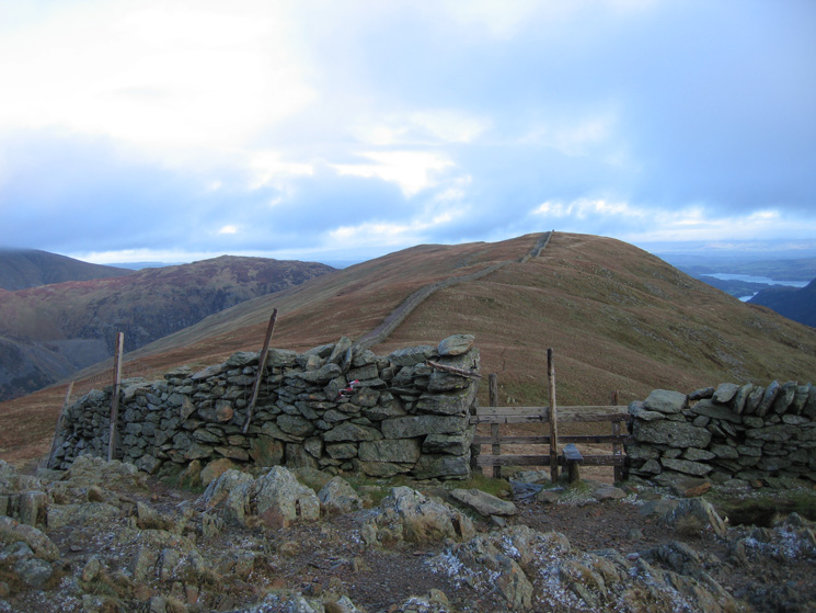 Looking back to Birkhouse Moor from the Hole-in-the-Wall