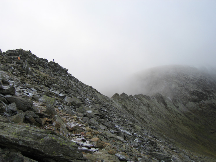 Striding Edge from the path up to High Spying How