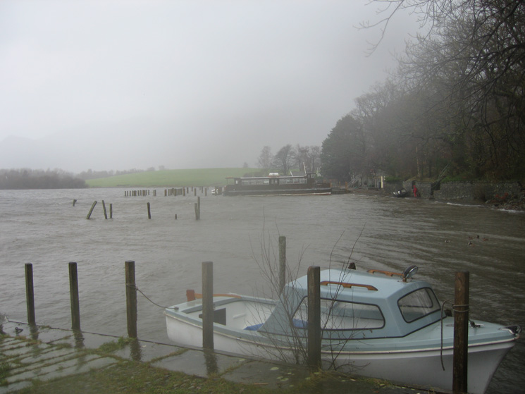 The Keswick landing stages, Derwent Water