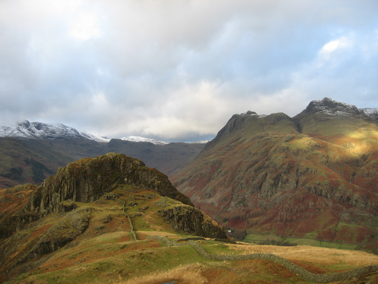 Side Pike and the Langdale Pikes