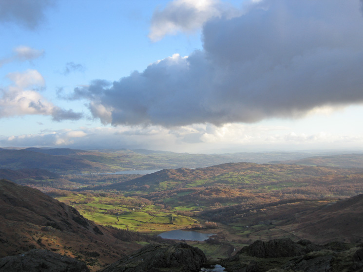 Little Langdale from Blake Rigg's summit