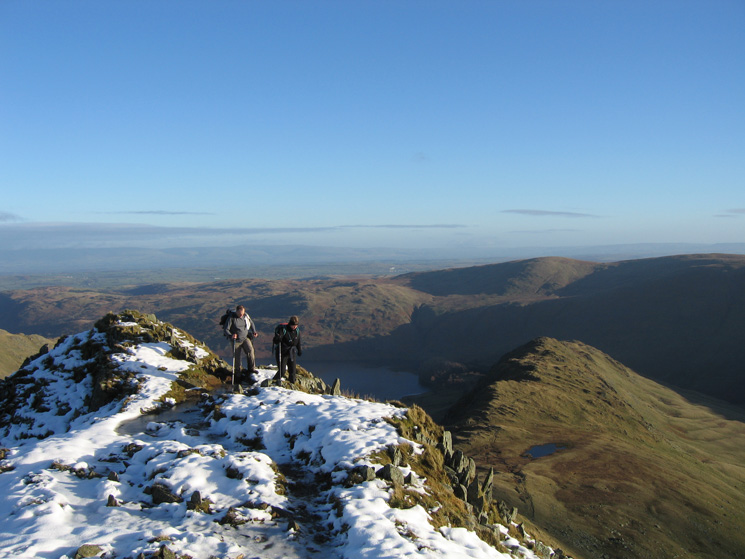 Ascending Long Stile with Rough Crag and Caspel Gate Tarn now way below