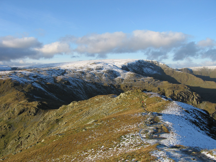 Looking back to Mardale Ill Bell and High Street from Harter Fell