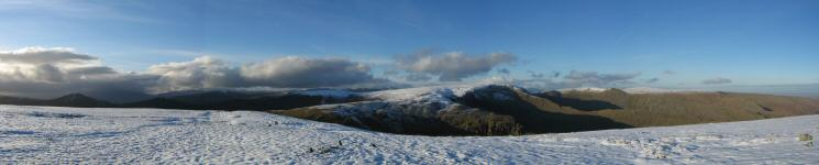 Westerly panorama from Harter Fell's summit