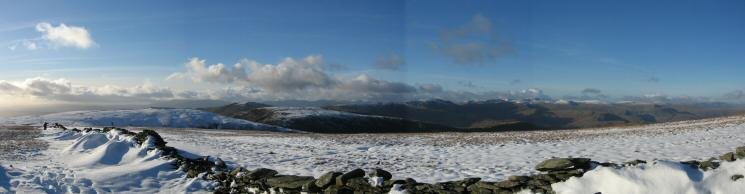 Westerly panorama from south of High Street's summit