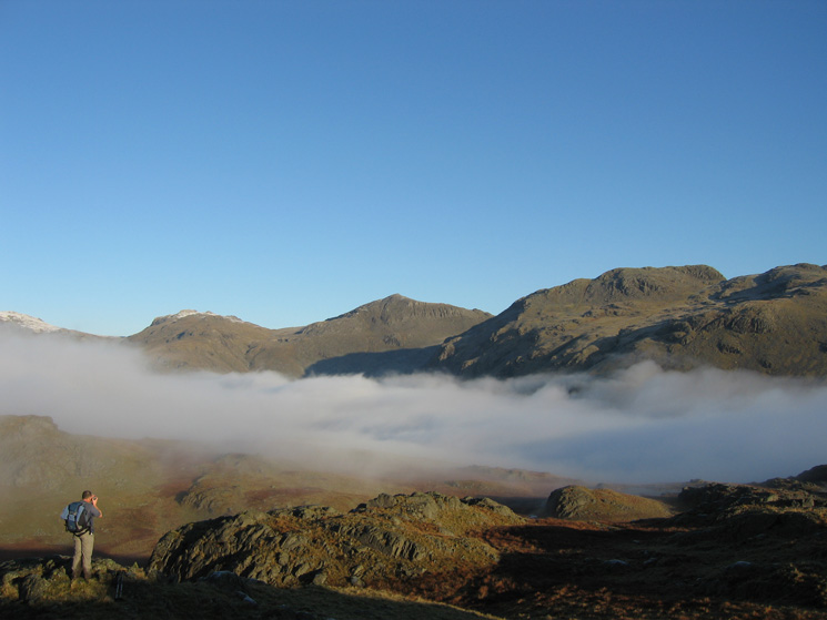 Esk Pike, Bowfell and Crinkle Crags