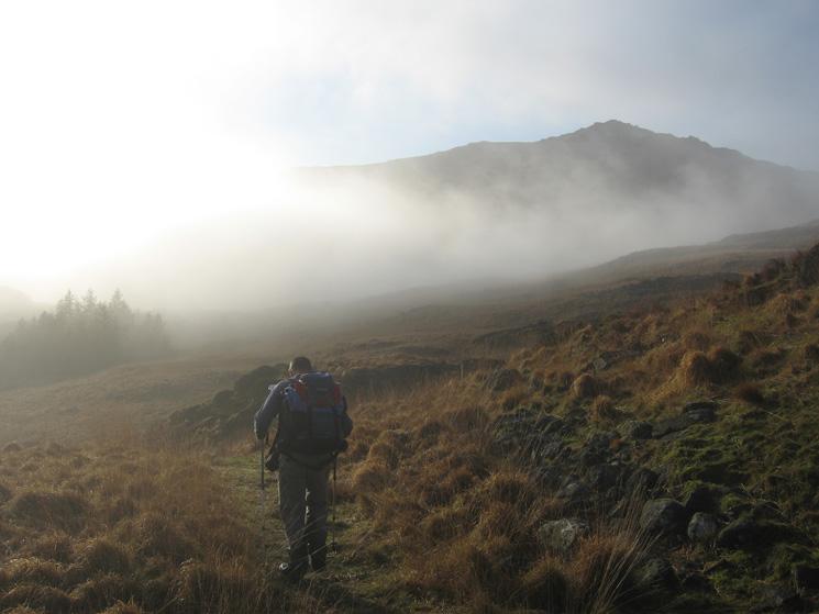 Heading for Harter Fell from Hardknott Pass