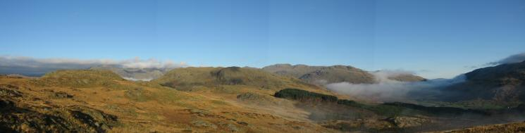 Northerly panorama from Harter Fell