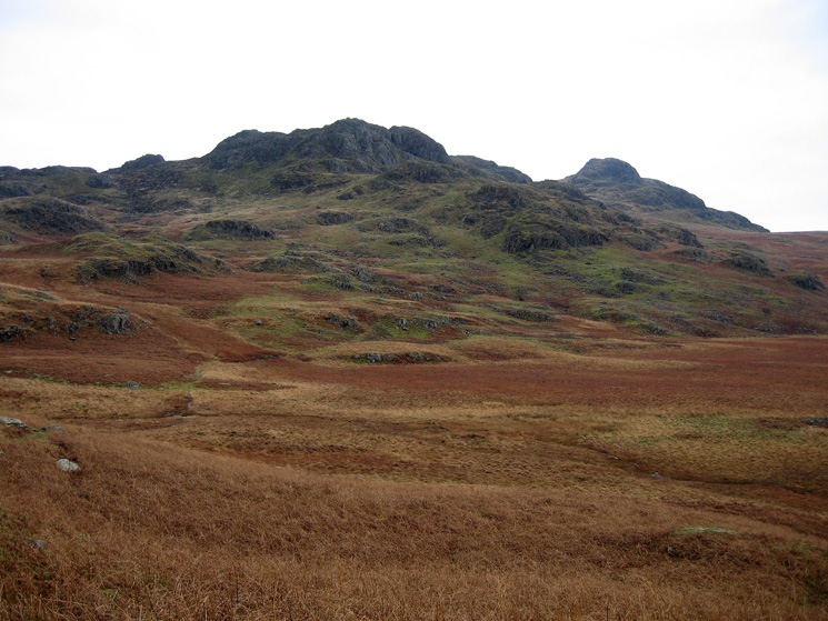 Looking back to Green Crag (right) with Crook Crag on the left