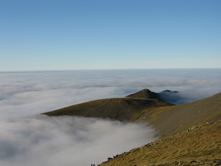 Carl Side with Long Side behind from Skiddaw Little Man