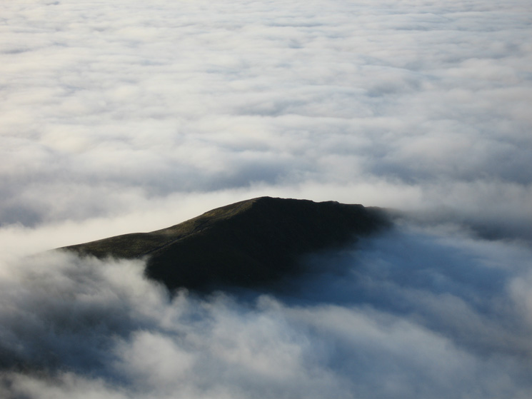 Looking down on Long Side from Skiddaw's summit