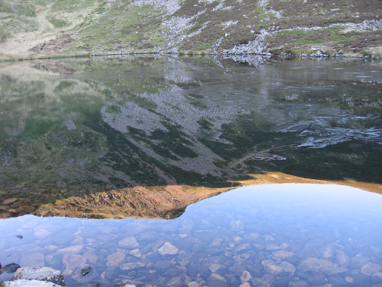 Red Pike reflecting in Bleaberry Tarn