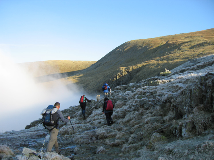 Breaking out of the cloud above Wythburn