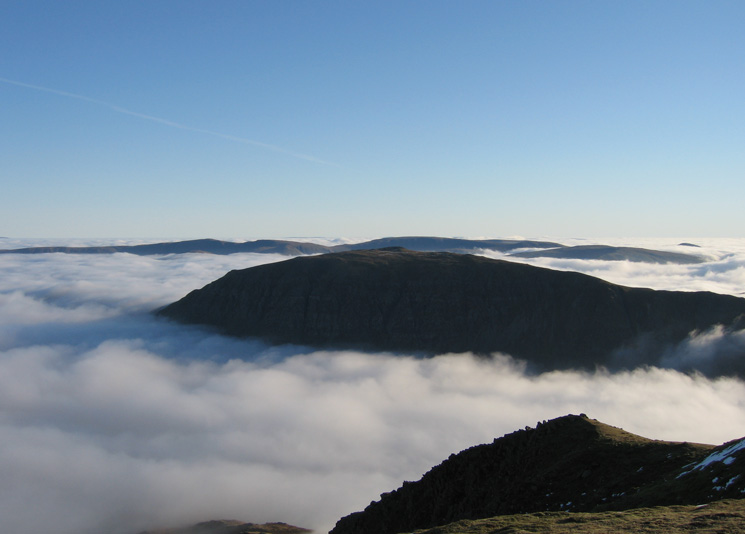 Saint Sunday Crag with the High Street fells behind from Nethermost Pike