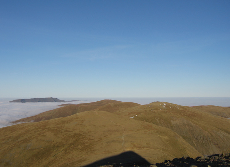 White Side, Raise and the Dodds with Blencathra beyond from Lower Man
