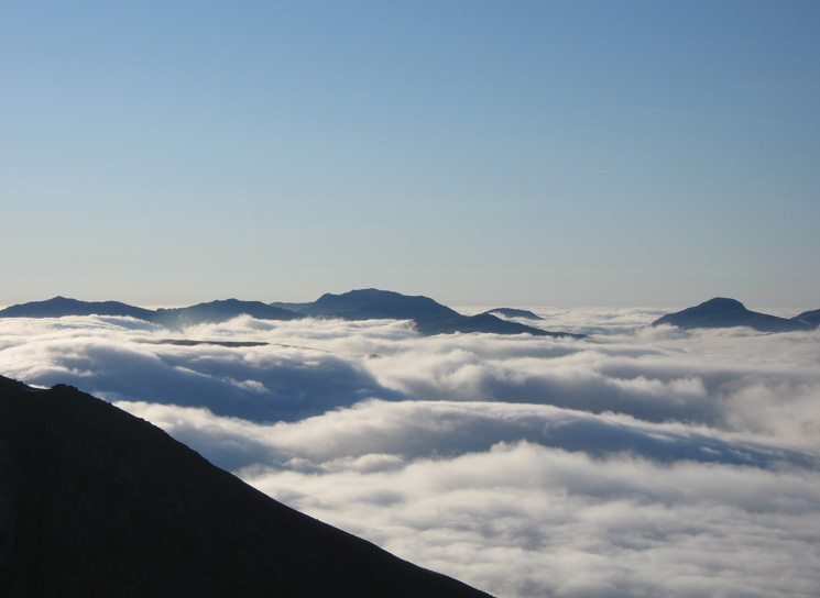 Bowfell, Esk Pike, Scafell Pike and Great Gable