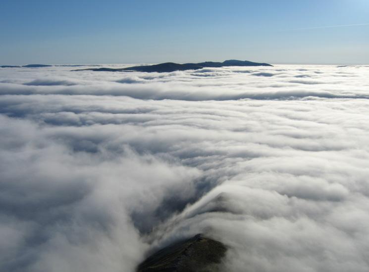 The Helvellyn ridge from Gategill Fell Top