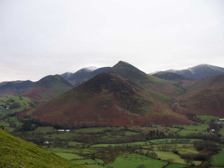 Rowling End and Causey Pike from Skelgill Bank