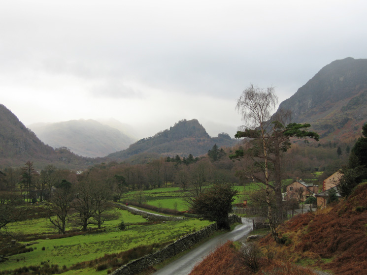 Castle Crag, Borrowdale from Manesty