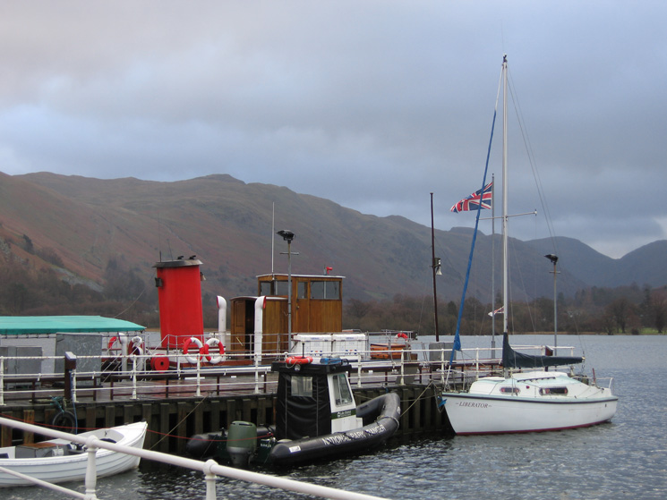 Boats at Glenridding Pier