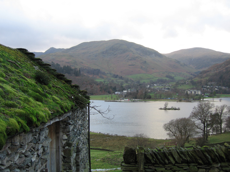 Looking across Ullswater to Glenridding with the bulk of Birkhouse Moor behind