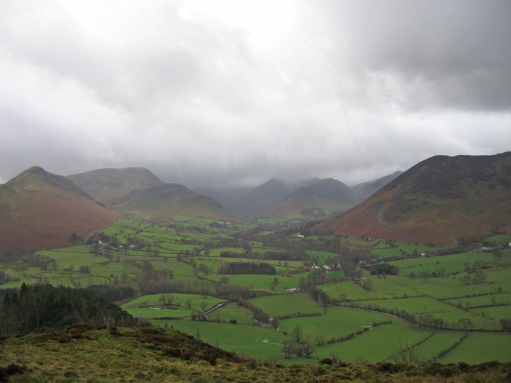 The Newlands Valley from Swinside's summit