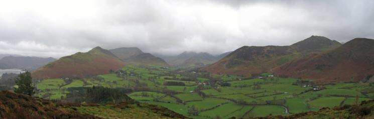 Newlands panorama from Swinside's summit