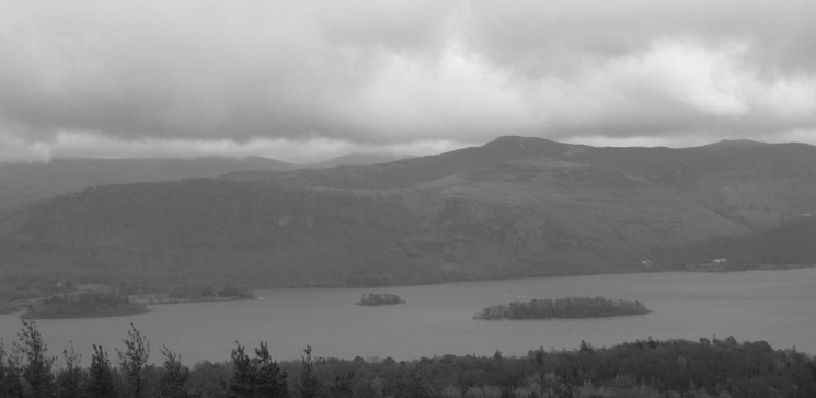 Looking across Derwent Water to Bleaberry Fell