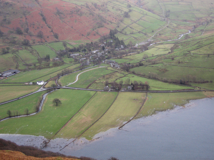 The hamlet of Hartsop and Brothers Water