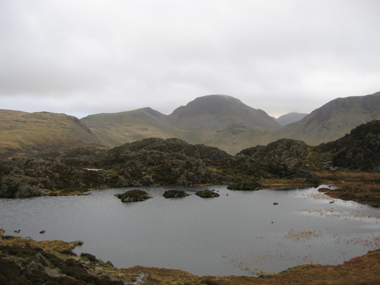 Looking over Innominate Tarn to Great Gable