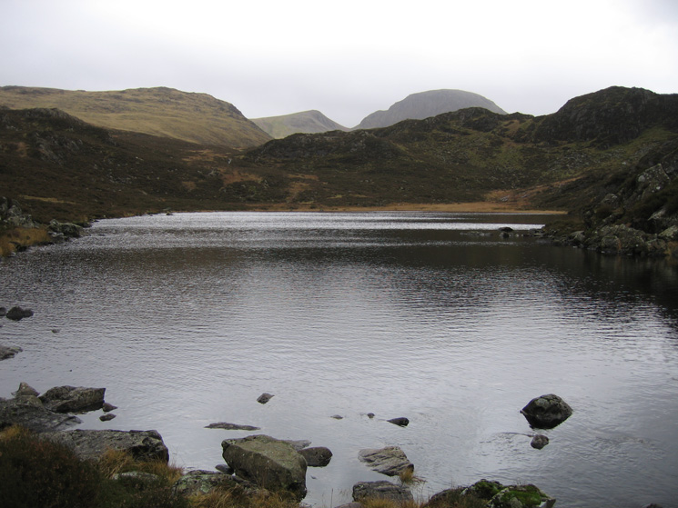 Green Gable and Great Gable from Blackbeck Tarn