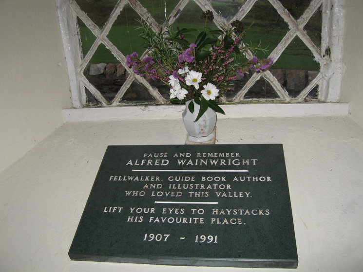 Wainwright memorial, St James Church, Buttermere