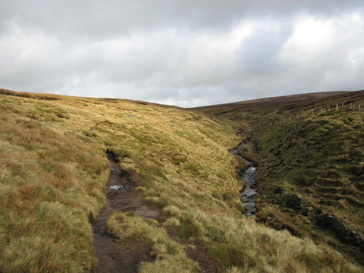 Looking back to the top of Ogden Clough