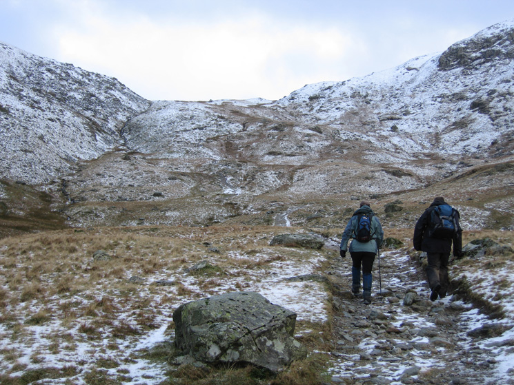 Heading up the track to Gatescarth Pass from Mardale Head
