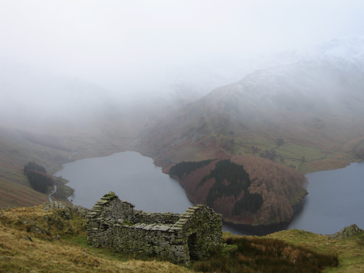 Mardale Head and The Rigg from one of the ruins next to the Old Corpse Road
