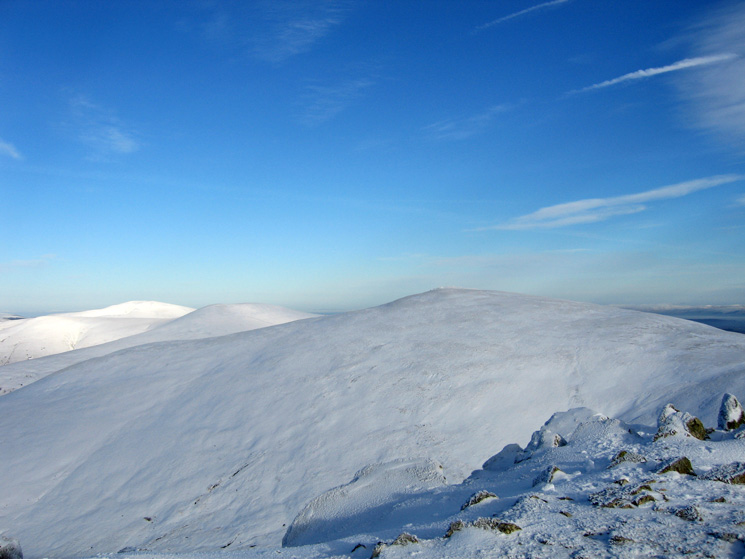 Looking north to White Side with Stybarrow Dodd behind and then Great Dodd behind again