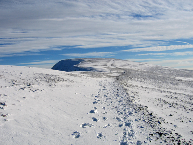 The path to Helvellyn's summit