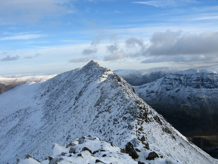 Looking back along Striding Edge
