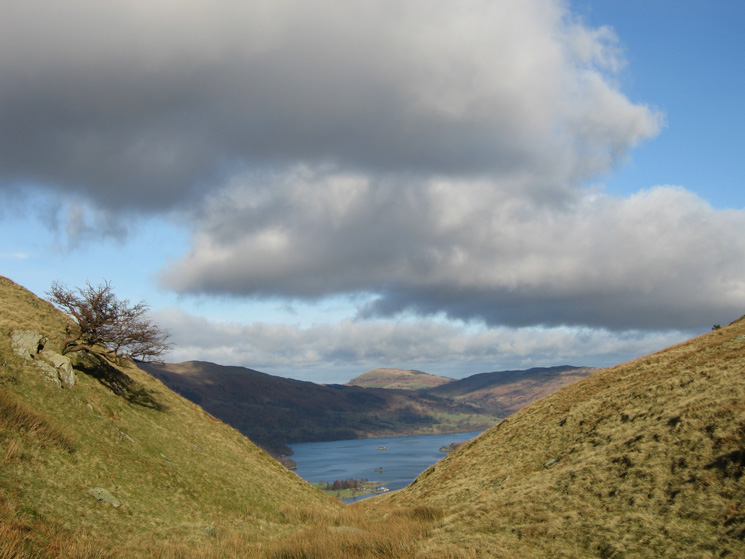 Ullswater from Trough Head with Great Mell Fell in the distance