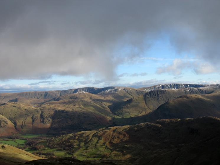 The far eastern fells from Gavel Pike's summit